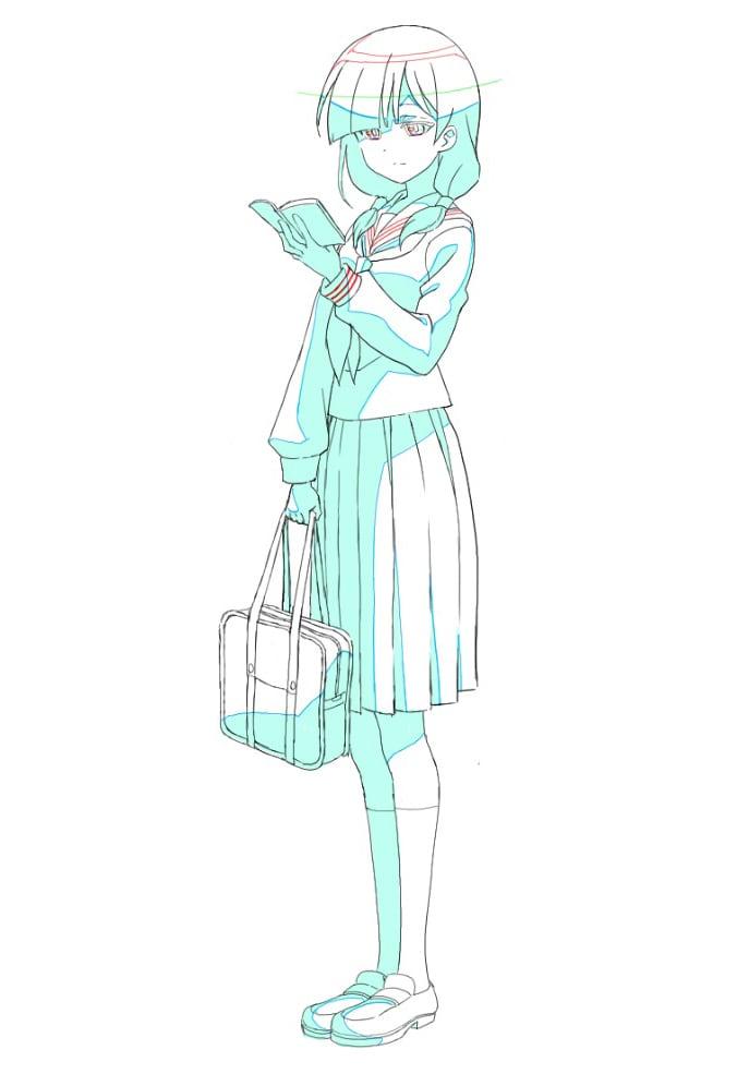 雪子の設定画。