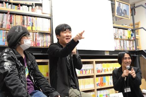 左から黒史郎、押切蓮介、田坂公章。
