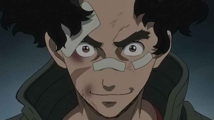 アニメ「メガロボクス」場面カット