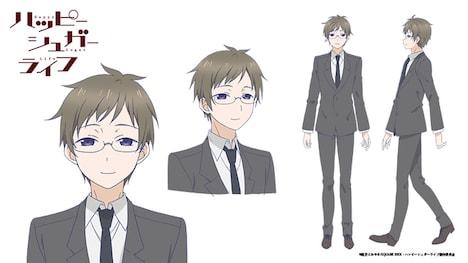 北埋川大地(CV:梅原裕一郎)のキャラクター設定画。