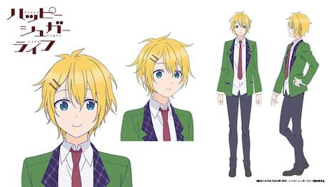 三星太陽(CV:花江夏樹)のキャラクター設定画。