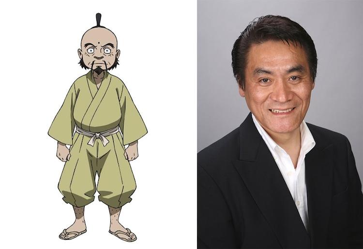 張明福役の斎藤志郎。