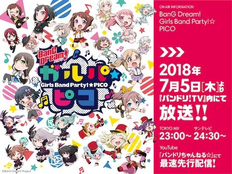「BanG Dream! ガルパ☆ピコ」ビジュアル