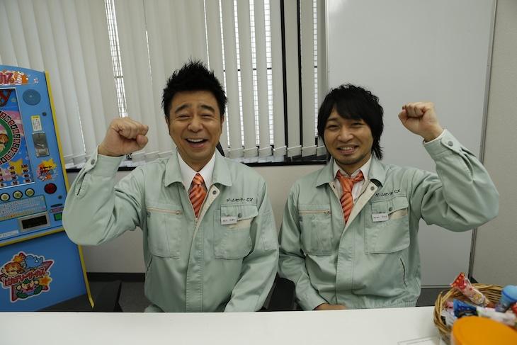 左から有野課長、中村悠一。