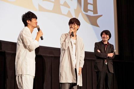 左から福山潤、櫻井孝宏、土屋康昌。