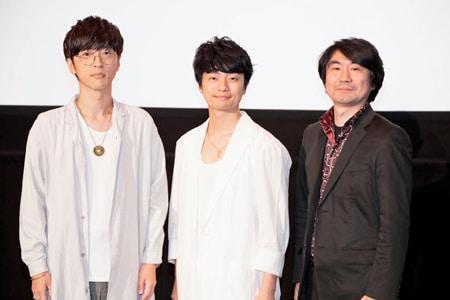 左から櫻井孝宏、福山潤、土屋康昌。