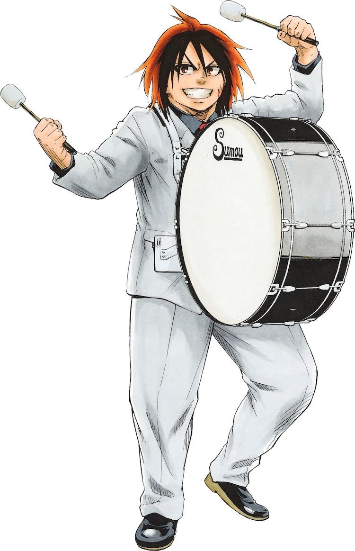 「火ノ丸相撲」の描き下ろしイラスト。(c)川田/集英社