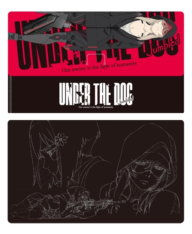 アニメ「UNDER THE DOG Jumbled」入場者特典のクリアチケットホルダー。