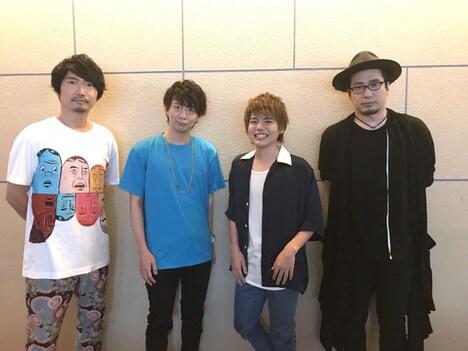 左から小西克幸、木村良平、内田雄馬、安元洋貴。