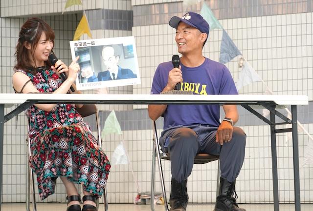 左から小松未可子、長谷部健渋谷区長。