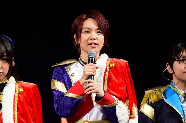 「少女☆歌劇 レヴュースタァライト」ステージの模様。石動双葉役の生田輝。(c)Project Revue Starlight