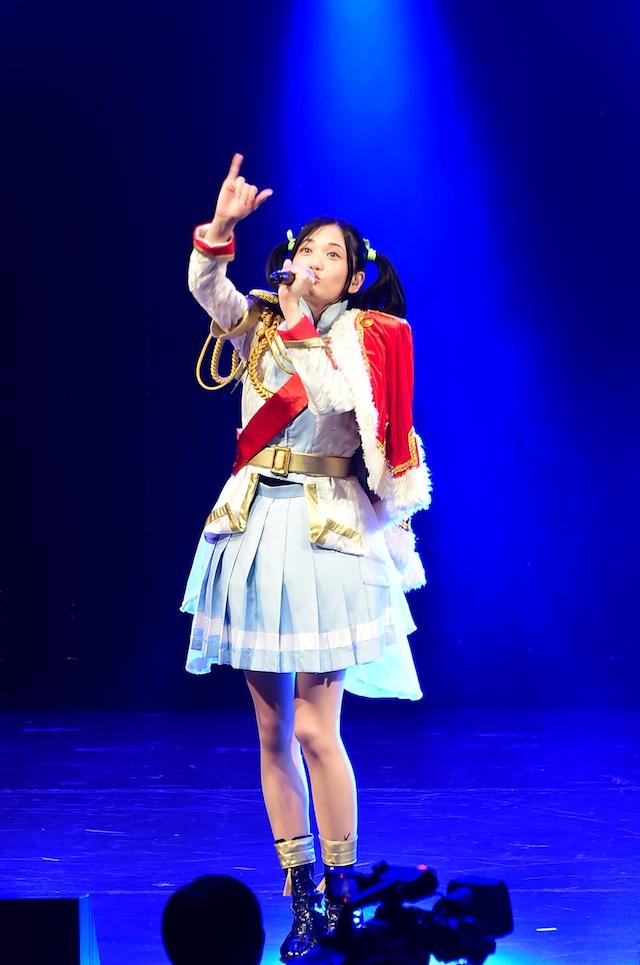 「少女☆歌劇 レヴュースタァライト」ステージの模様。大場なな役の小泉萌香。(c)Project Revue Starlight