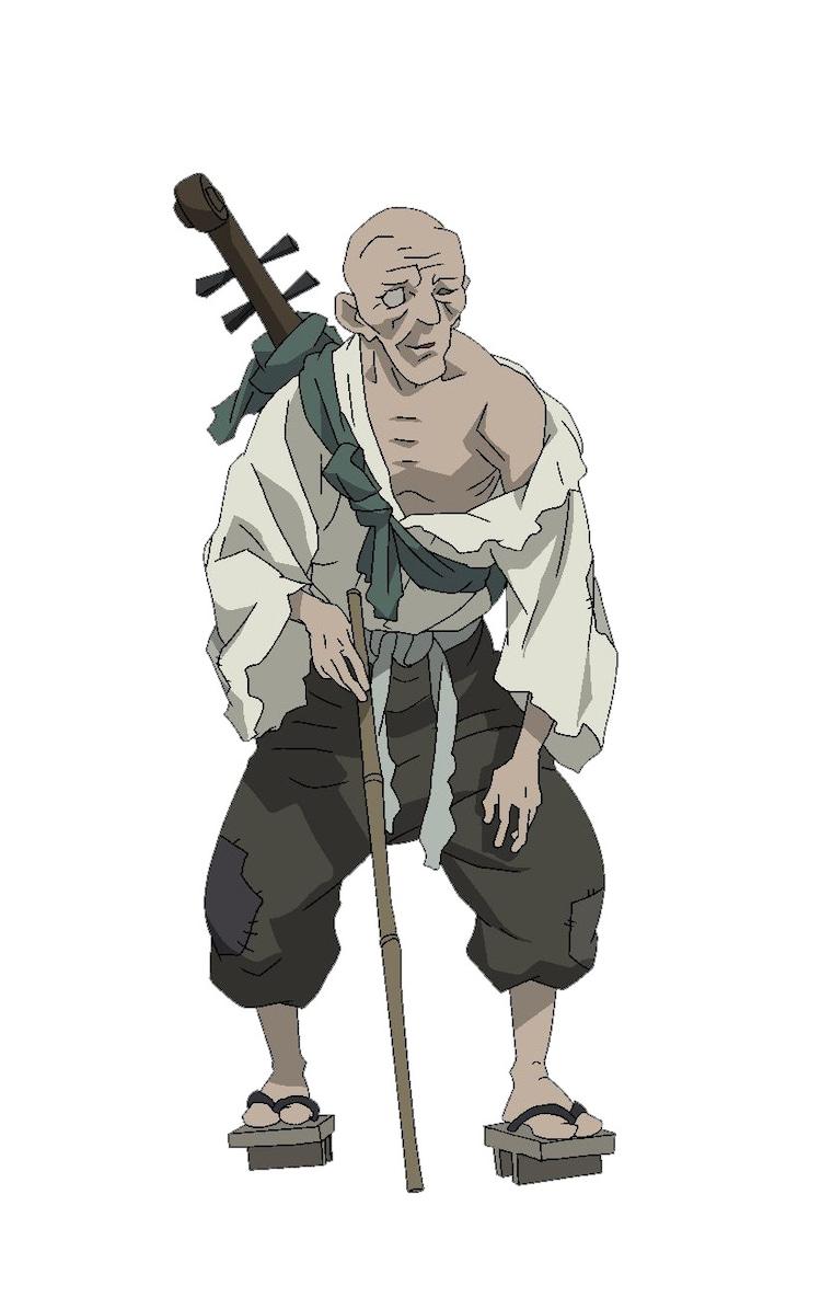 琵琶丸(CV:佐々木睦)のキャラクター設定画。