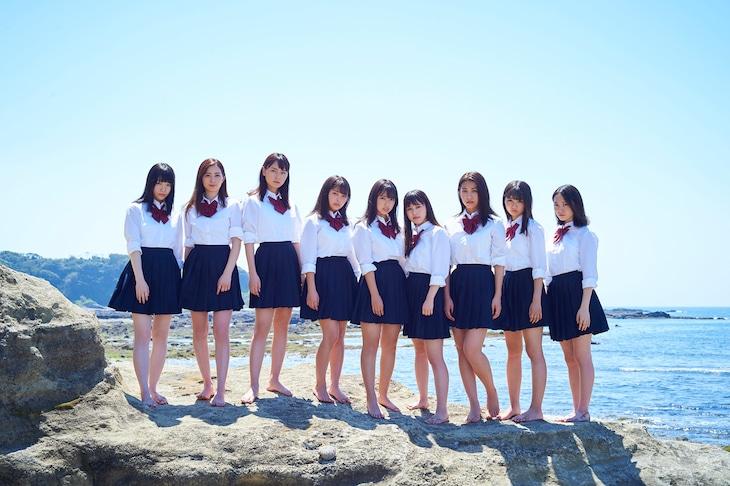 左から鈴木ゆうは、農海姫夏、池松愛理、寺本莉緒、沢口愛華、岡田佑里乃、佐藤あいり、倉沢しえり、岡本桃花。