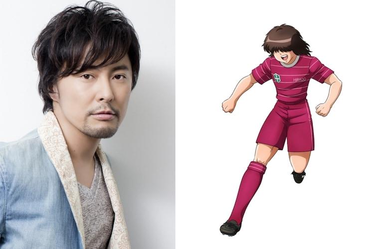 左から吉野裕行、佐野満のキャラクタービジュアル。