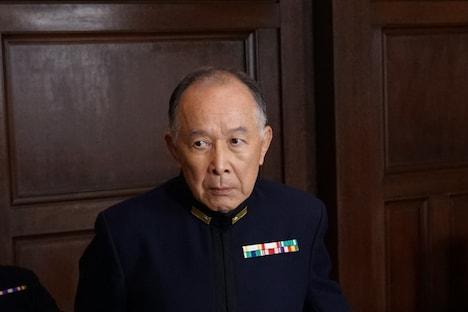 橋爪功扮する嶋田繁太郎。