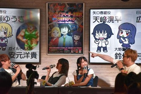 TVアニメ「ハイスコアガール」トークショーの様子。