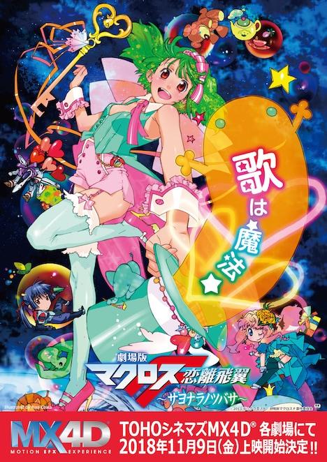 「劇場版マクロスF~サヨナラノツバサ~」MX4D版上映の告知ビジュアル。