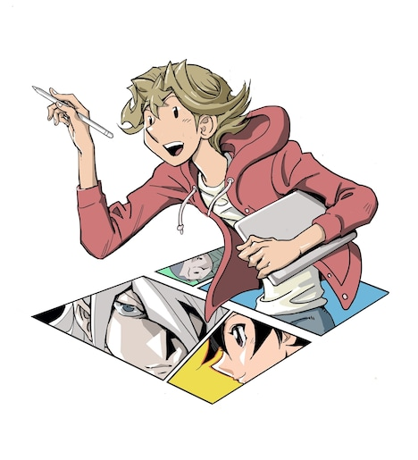 「THE COMIQ」のカラーカット。(c)高橋和希 スタジオ・ダイス/集英社