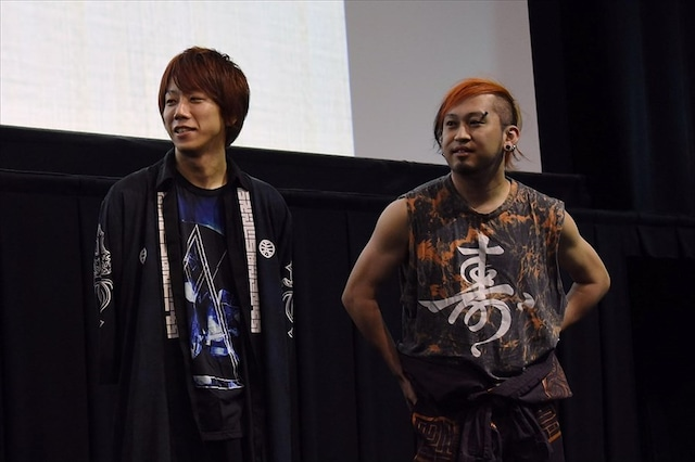 オメでたい頭でなによりのmao(左)、ミト充(右)。