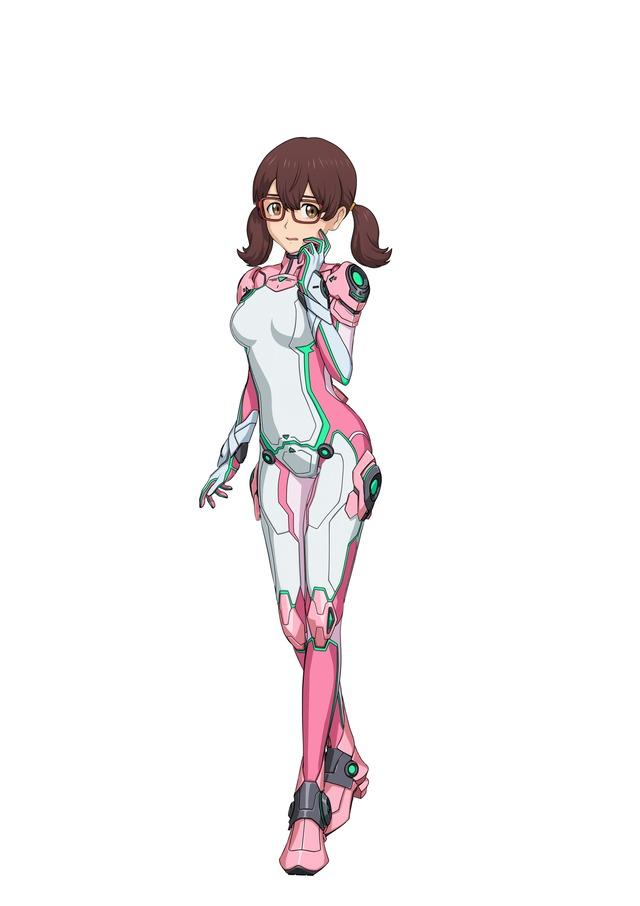 ニューロスーツを着用した手真輪愛鈴(CV:石見舞菜香)。