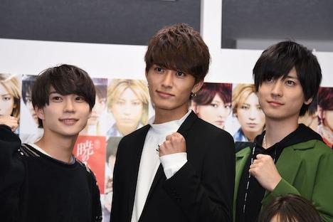 左からゼノ役の木津つばさ、ジェハ役の西川俊介、キジャ役の山本一慶。
