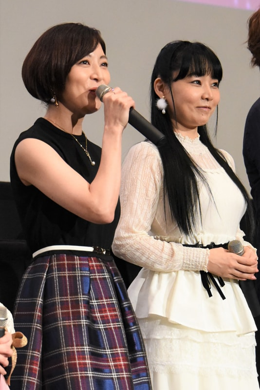 左から本名陽子、ゆかな。