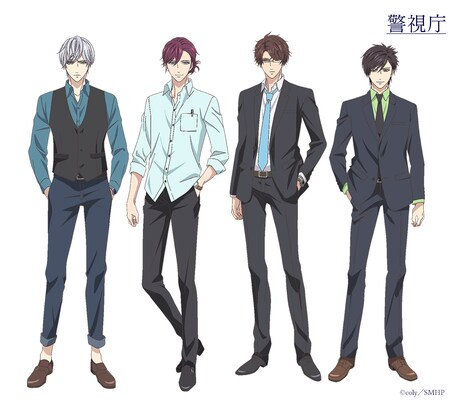 左から、警視庁捜査一課の荒木田蒼生、服部耀、朝霧司、菅野夏樹。