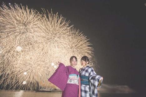 「Cygames Presents 伊万里湾大花火2018」の様子。