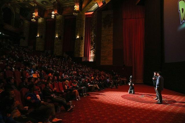 ロサンゼルス・チャイニーズシアターでのプレミア上映会の様子。