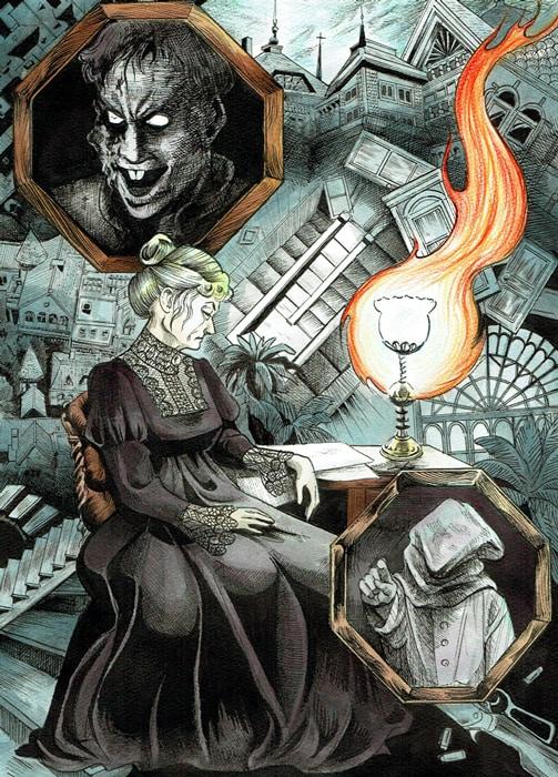 呪みちるによる描き下ろしイラスト。