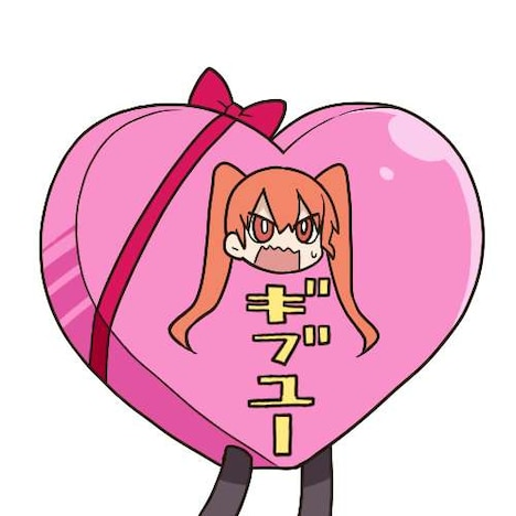 LINEスタンプ「TVアニメ『上野さんは不器用』」より。