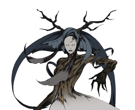 マーリヤの妖精・アッシュクラッド。超高熱の腕で掴んだものを灰に帰す能力を持つ。