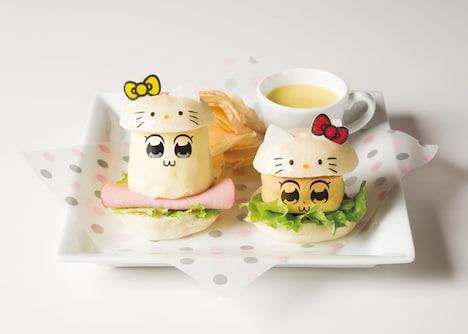 「ポプ子とピピ美のキティコスバーガーセット」