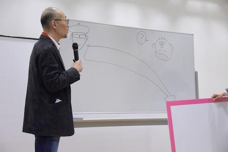 島本和彦の話は思いもしないところに着地するというイメージ画像(藤田和日郎作)。