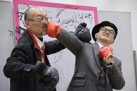 藤田和日郎(左)と島本和彦(右)。
