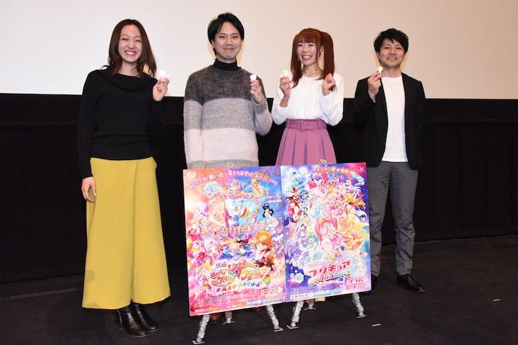 左から神木優プロデューサー、宮本浩史監督、成瀬瑛美、内藤圭祐プロデューサー。