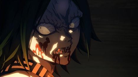 TVアニメ「鬼滅の刃」より。緑川光演じるお堂の鬼。