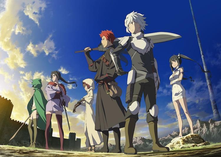 TVアニメ「ダンジョンに出会いを求めるのは間違っているだろうか II」ティザービジュアル