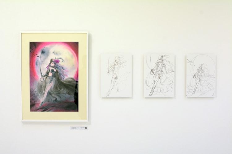 「チェンジ・アンド・チャレンジ」のコーナーより、高田明美が描いた「吸血鬼ハンターD 」のイラスト。