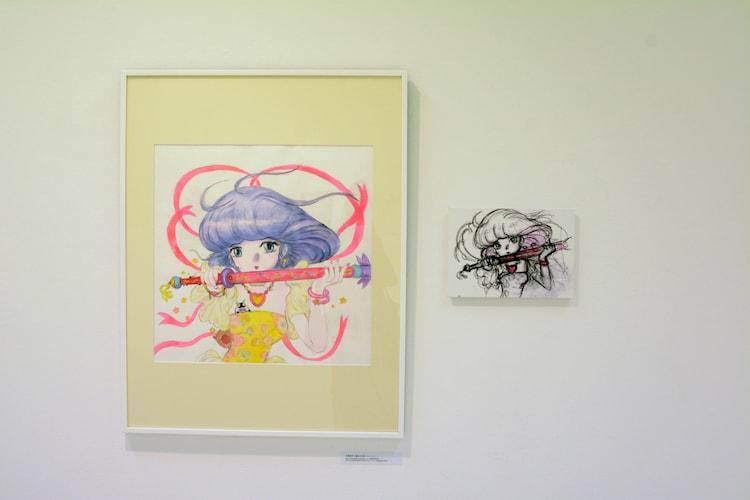 「チェンジ・アンド・チャレンジ」のコーナーより、天野喜孝が描いた「魔法の天使 クリィミーマミ」のイラスト