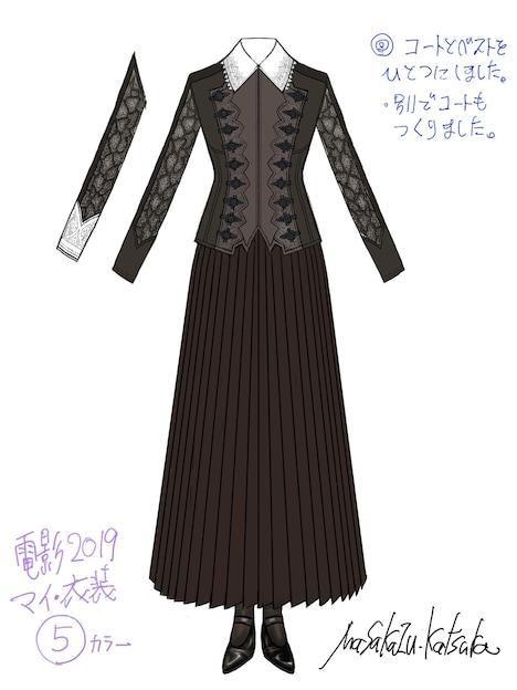 桂正和による衣装デザイン。(c)桂正和/集英社