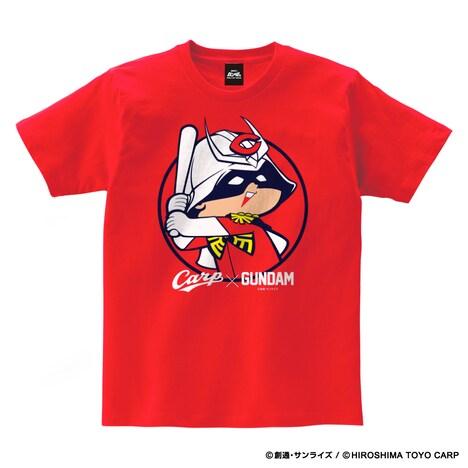 「ガンダム×カープ Tシャツ(シャア坊や)」