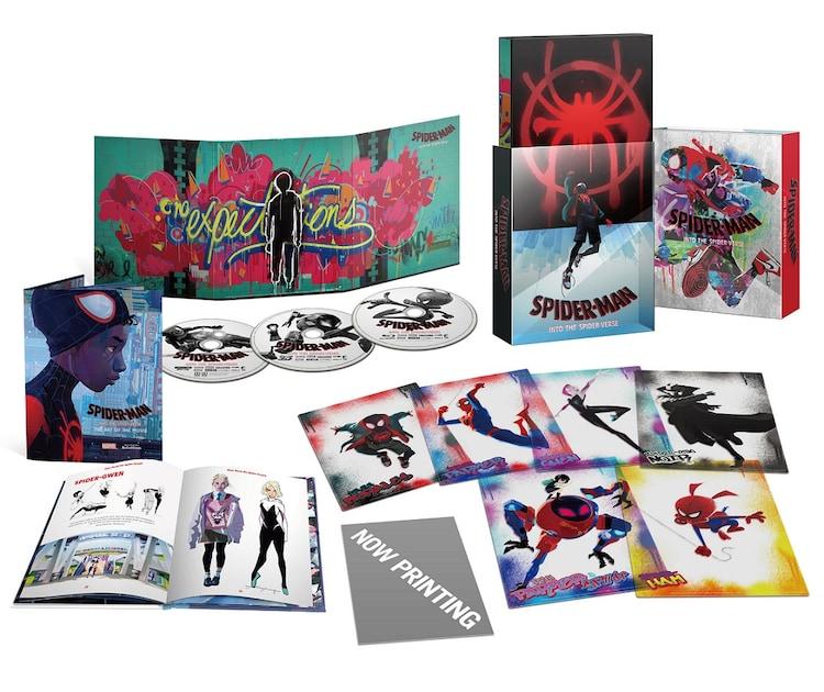 「スパイダーマン:スパイダーバース」プレミアムエディション展開図。