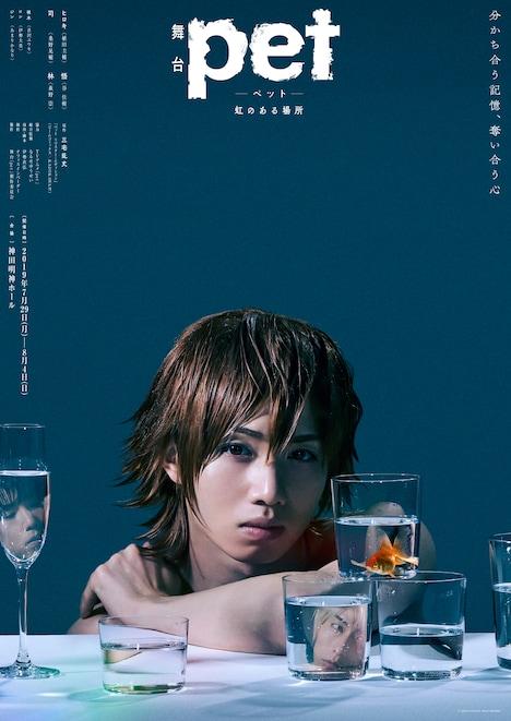舞台「『pet』─虹のある場所─」より、植田圭輔演じるヒロキが登場したキービジュアル。