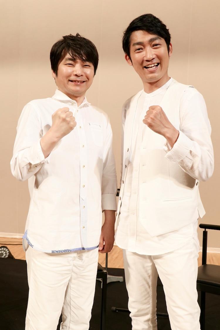 左から石田彰、石田明。