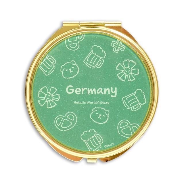 ドイツのラメコンパクトミラー。