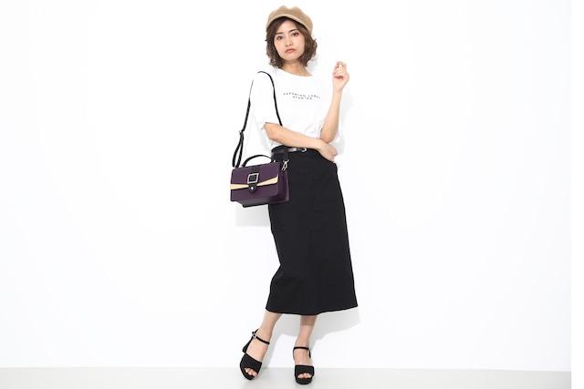 玄奘三蔵モデルのバッグの使用イメージ。