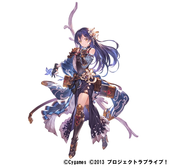 「グランブルーファンタジー」×「ラブライブ!」コラボレーションイラスト、園田海未。