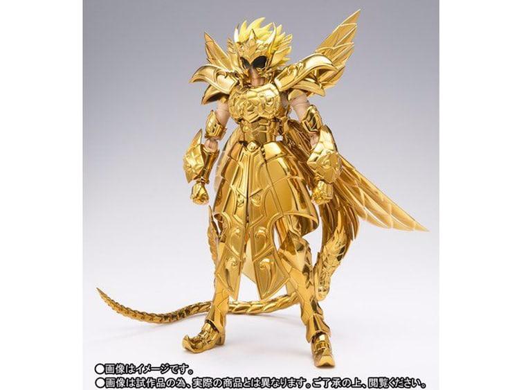 車田正美直筆サイン入り「蛇遣座の黄金聖闘士」フィギュア。